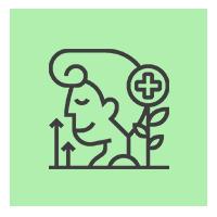 Icône représentant un personnage avec un petit plus