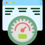 Icône d'un navigateur internet et d'un compteur